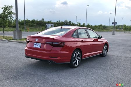 2020 Volkswagen Jetta GLI, three-quarters rear