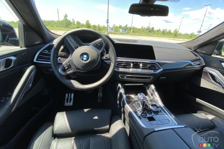 2020 BMW X6 M50i, interior