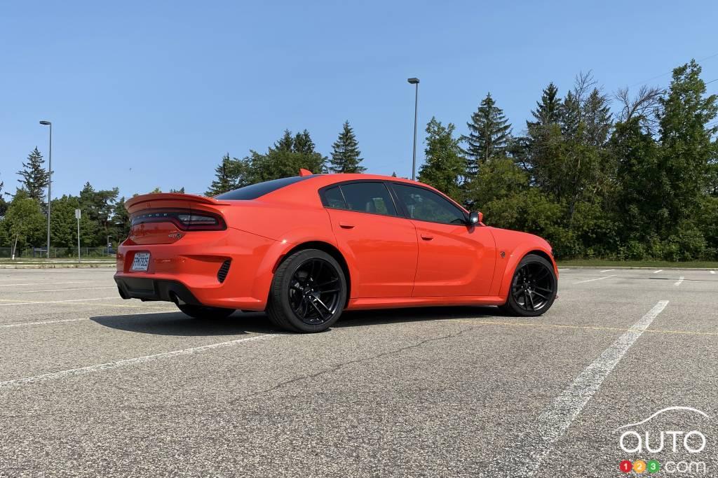 Dodge Charger SRT Hellcat Widebody 2020, trois quarts arrière