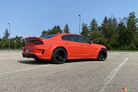 2020 Dodge Charger SRT Hellcat Widebody, three-quarters rear