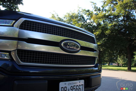 2020 Ford F-150 Platinum, grille