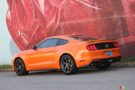 2020 Ford Mustang EcoBoost HPP, three-quarters rear