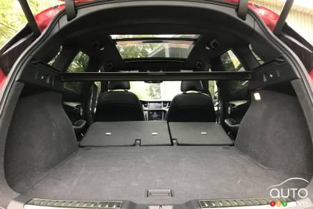 2020 Infiniti QX50, with rear seats down