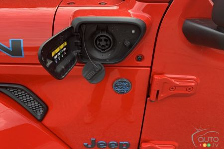 2021 Jeep Wrangler 4xe, charging port