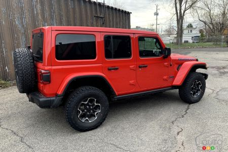 2021 Jeep Wrangler 4xe, three-quarters rear