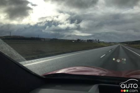2020 Infiniti QX50, on the road