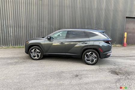 2022 Hyundai Tucson hybride, profile