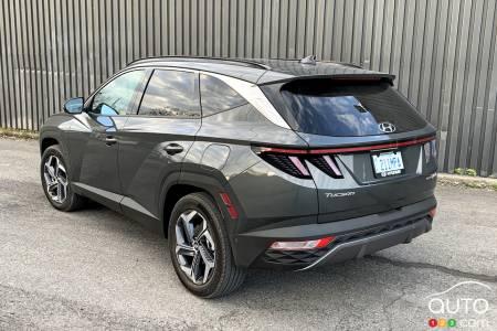 2022 Hyundai Tucson Hybrid,  three-quarters rear