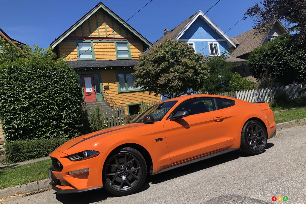 Ford Mustang EcoBoost HPP 2020, trois quarts avant
