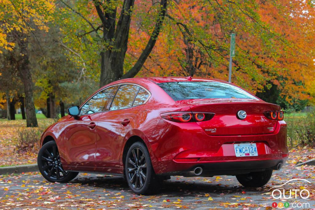 Mazda3 Turbo 2021, trois quarts arrière