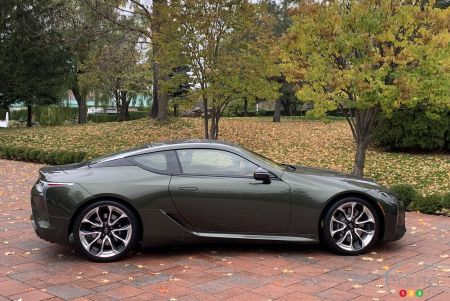 2021 Lexus LC 500, profile