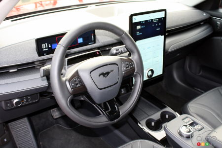 2021 Ford Mustang Mach-E, steering wheel, screen