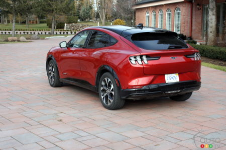 2021 Ford Mustang Mach-E, three-quarters rear