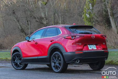2021 Mazda CX-30 GT Turbo, three-quarters rear