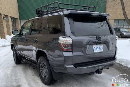 2020 Toyota 4Runner, three-quarters rear