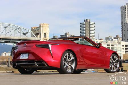 2021 Lexus LC 500 Convertible, three-quarters rear