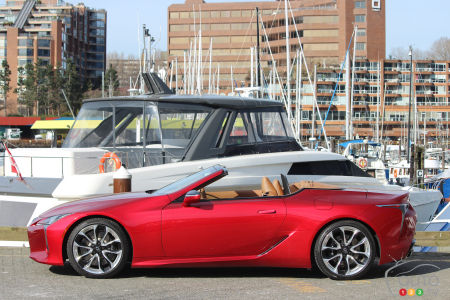 2021 Lexus LC 500 Convertible, roof down