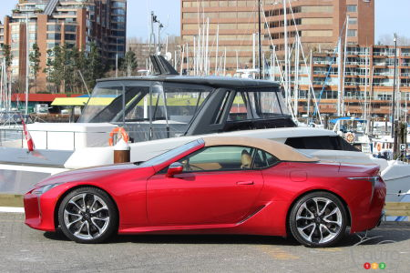 2021 Lexus LC 500 Convertible, roof up
