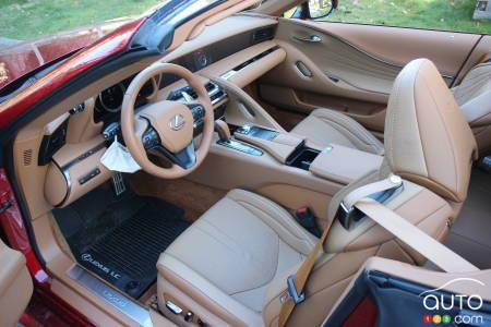 2021 Lexus LC 500 Convertible, interior