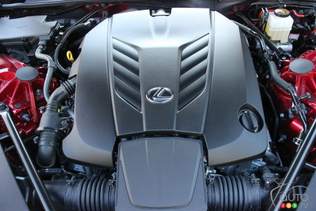 2021 Lexus LC 500 Convertible, engine