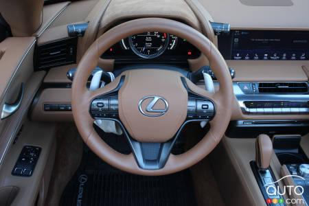 2021 Lexus LC 500 Convertible,  steering wheel