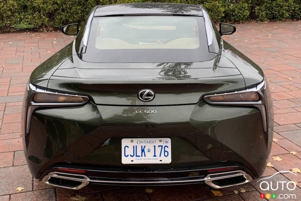 Lexus LC 500 2021, arrière