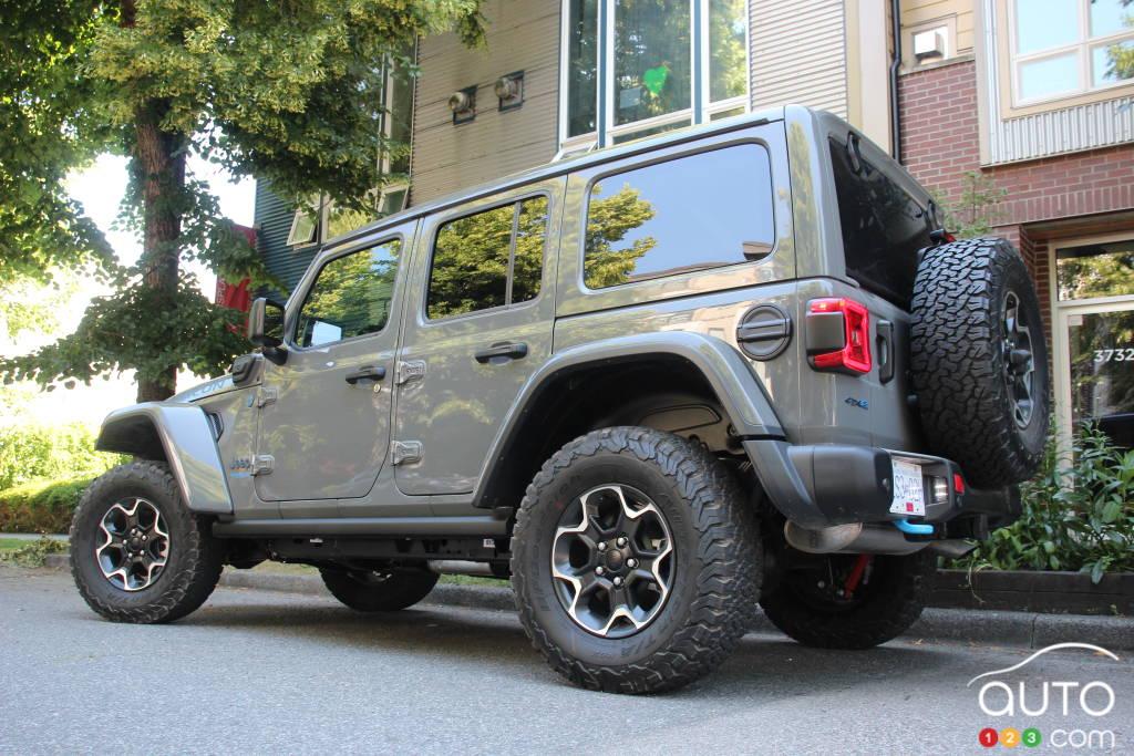 Jeep Wrangler 4xe 2021, trois quarts arrière