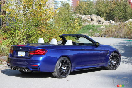 2020 BMW M4 Cabriolet, three-quarters rear