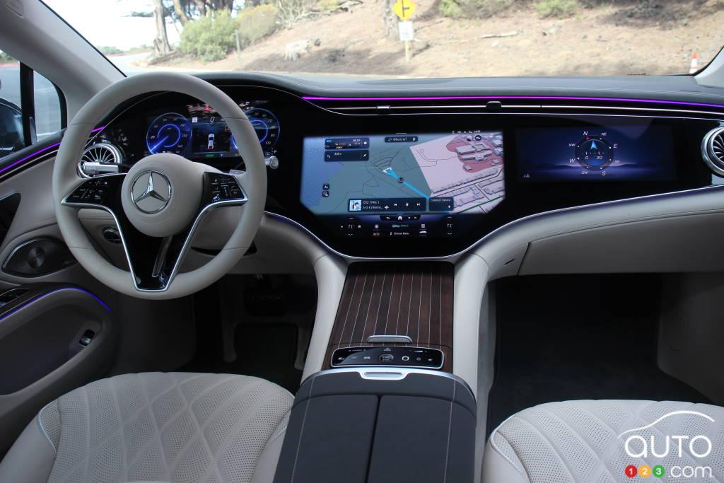 Mercedes-EQ EQS 580 4Matic 2022, intérieur