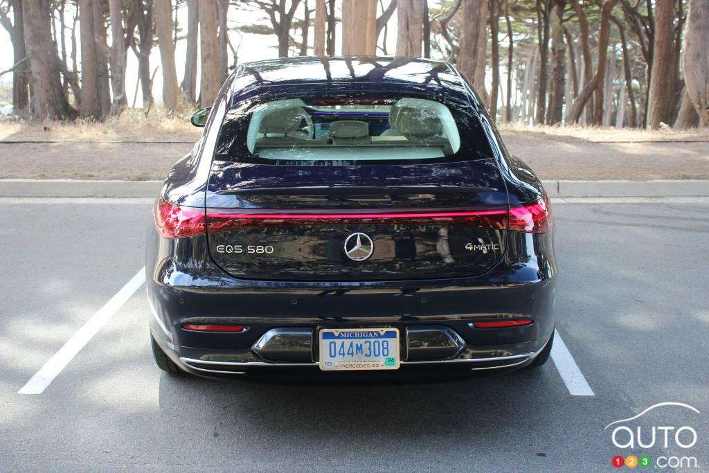 Mercedes-EQ EQS 580 4Matic 2022, arrière