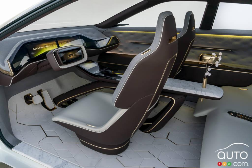 Infiniti EV (prototype  QX Inspiration), intérieur