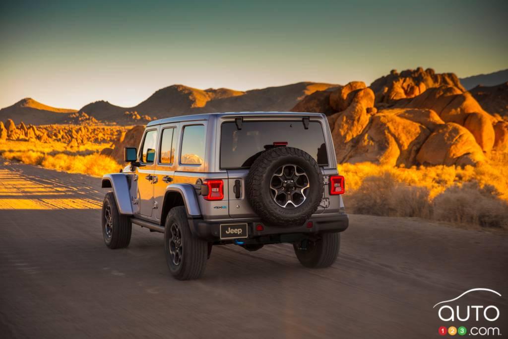 Jeep Wrangler 4xe, arrière