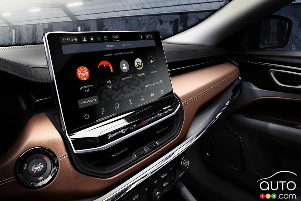 Jeep Compass 2022, écran multimédia