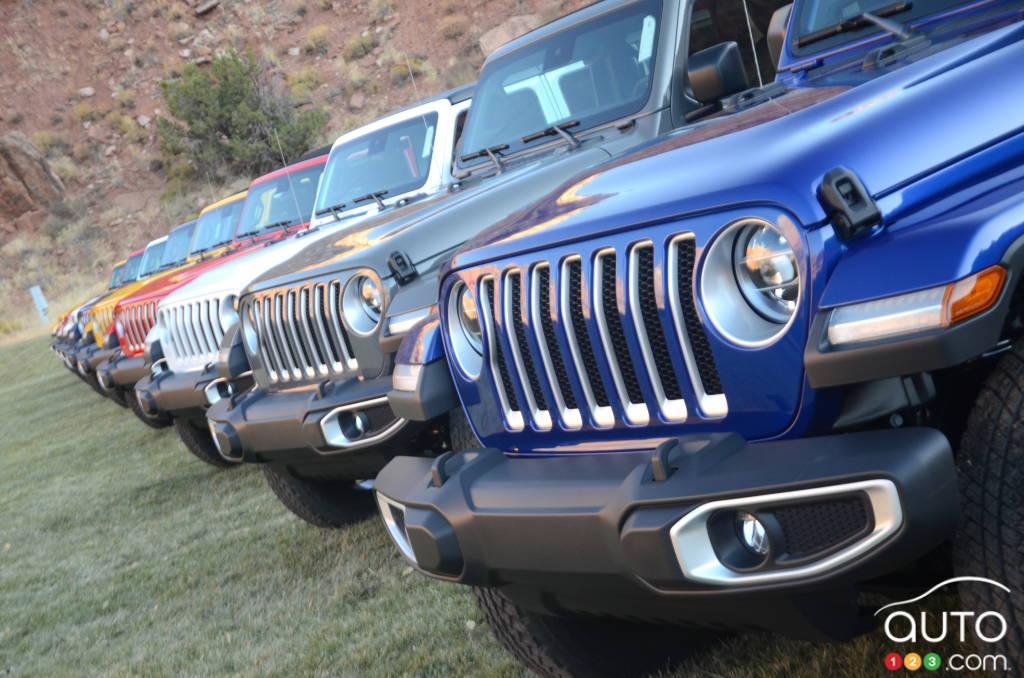 Plusieurs Jeep Wrangler 2020