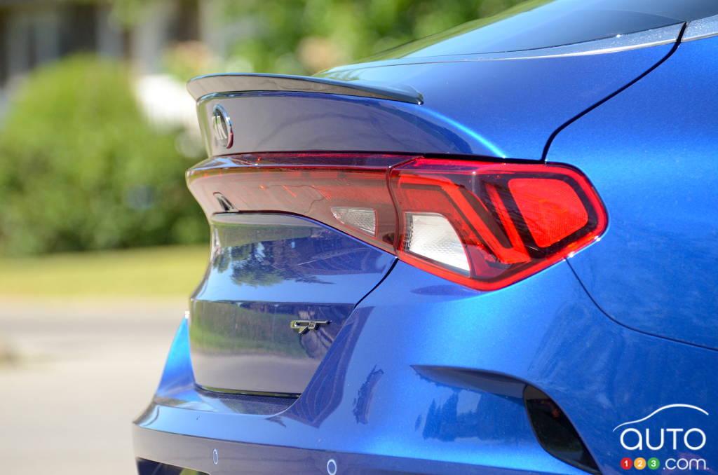 Kia K5 GT 2021, coffre, diffuseur