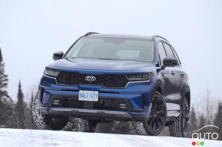 2021 Kia Sorento, on the snow