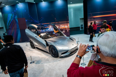 An unveiling at the Los Angeles Auto Show, in 2019