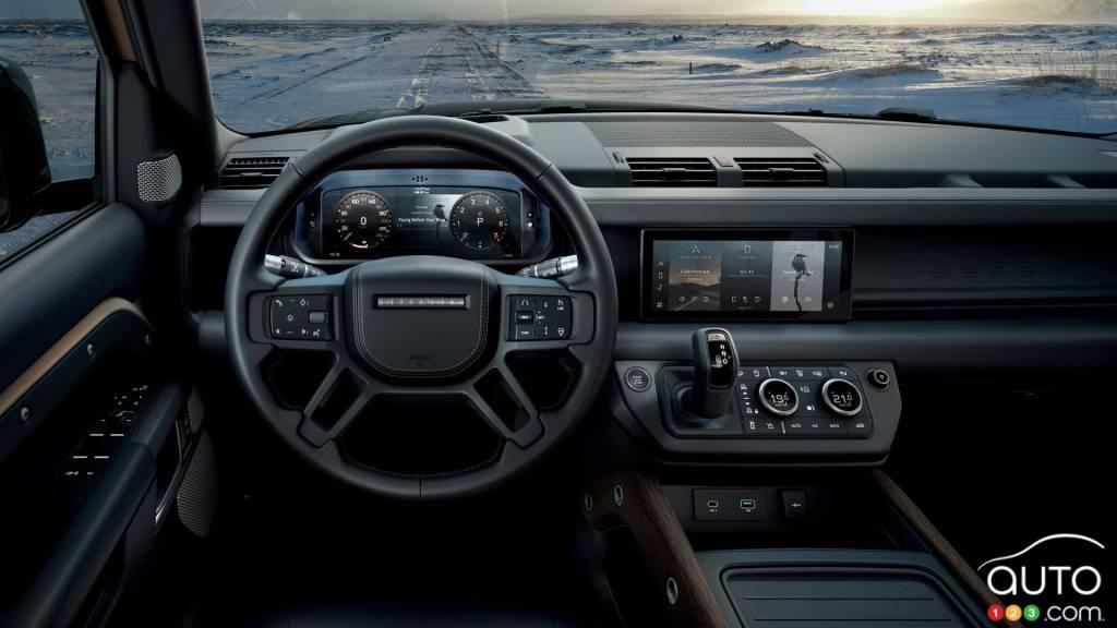 Land Rover Defender 90 2021, intérieur