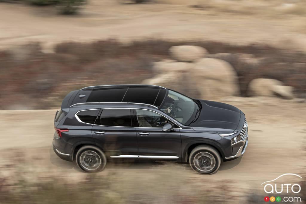Hyundai Santa Fe 2021, de haut