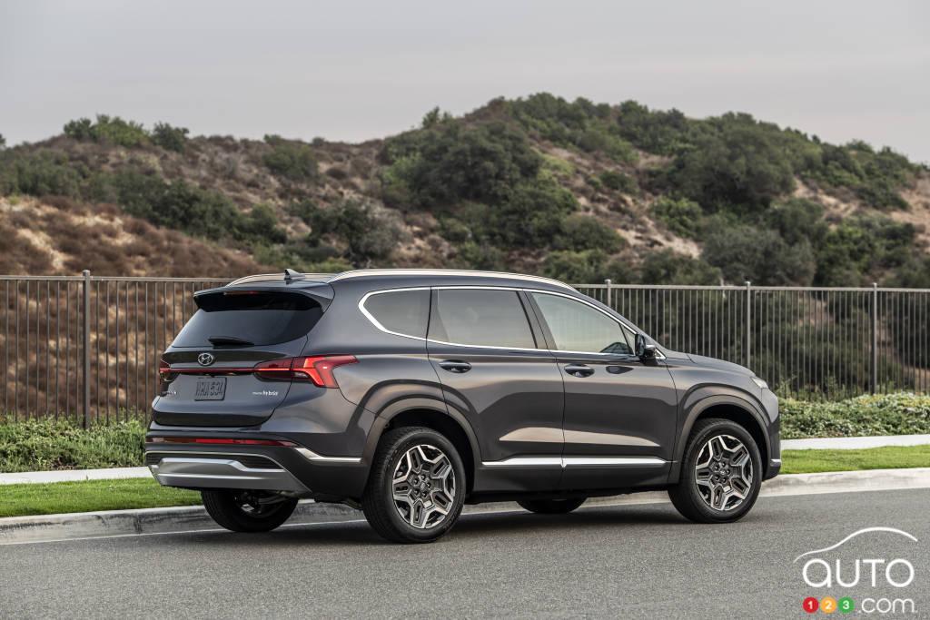 Hyundai Santa Fe 2021, trois quarts arrière