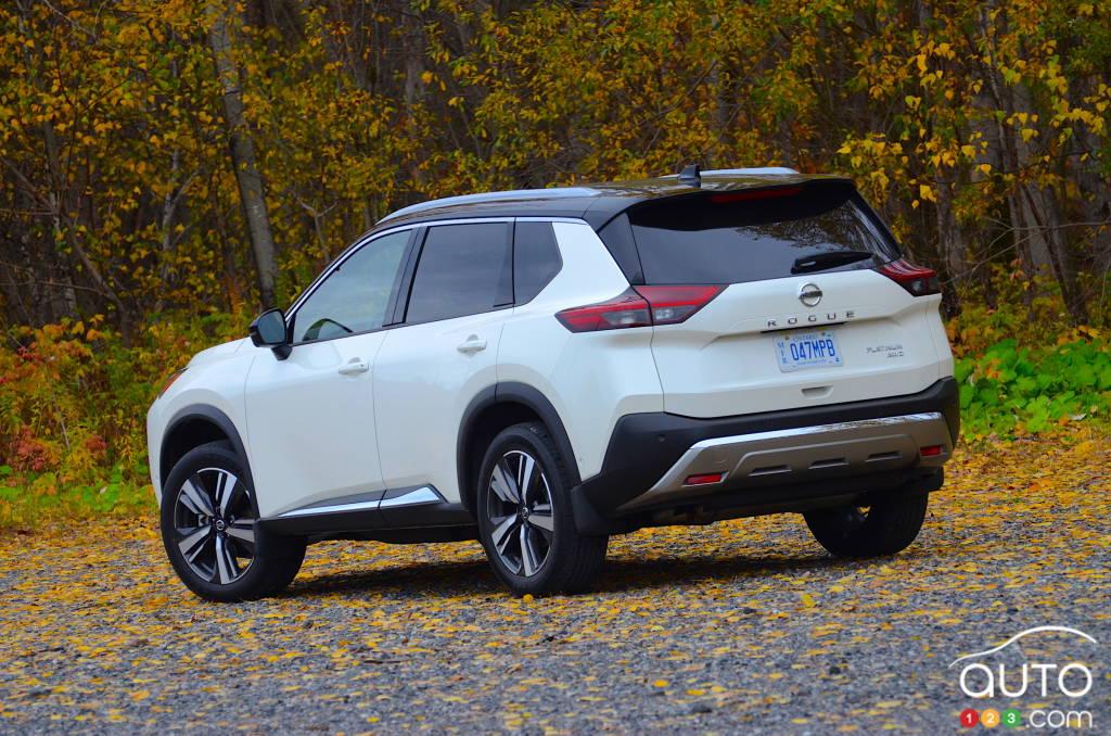 Nissan Rogue 2021, trois quarts arrière