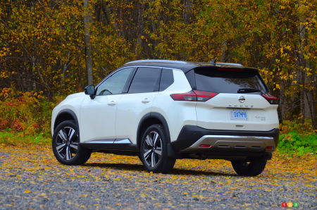 2021 Nissan Rogue, three-quarters rear
