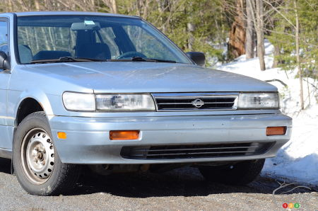 1992 Nissan Stanza, front end