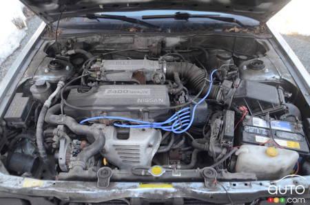 1992 Nissan Stanza, under the hood