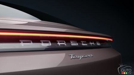 2021 Porsche Taycan with RWD, badging