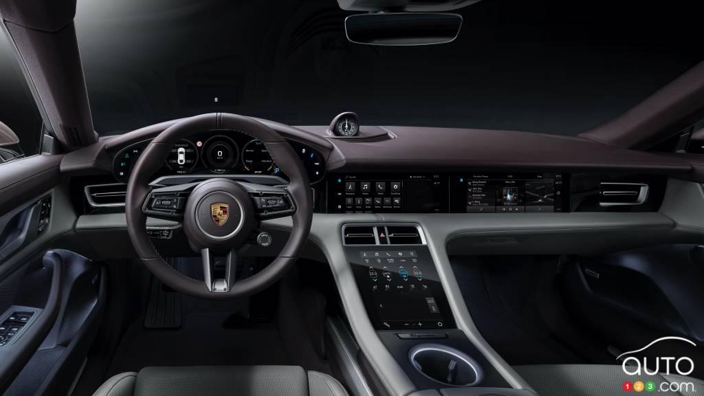 Porsche Taycan 2021 à propulsion, intérieur