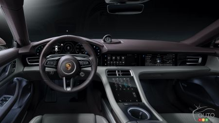 2021 Porsche Taycan with RWD, interior