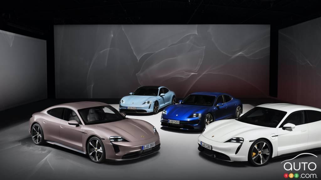 La Porsche Taycan 2021