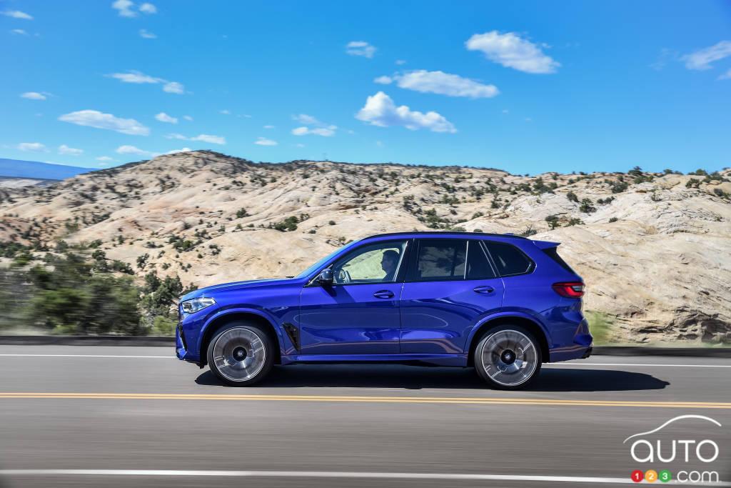 BMW X5 M 2020, profil