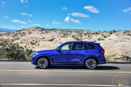 2020 BMW X5 M, profile